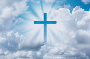 Cross in the clouds