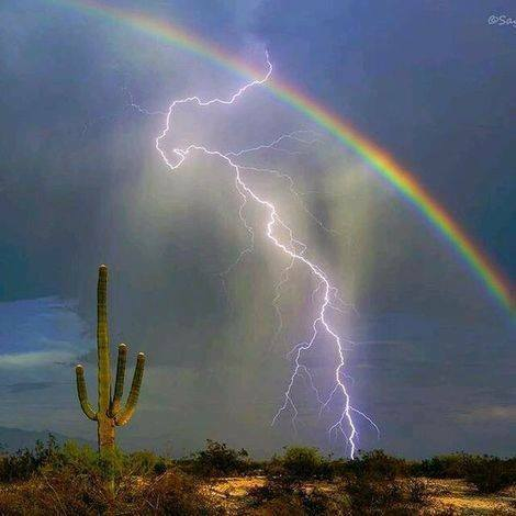 rainbows and lightning